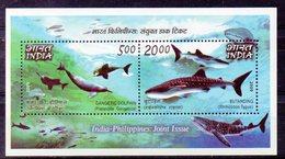 INDE Timbres Neufs ** De  1973  (ref 4509 )  Animal- Requin- Dauphin