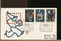 ITALIA - FDC - GIORNATA DEL FRANCOBOLLO 1974 - ARLECCHINO MASCHERA SIPARIO - F.D.C.