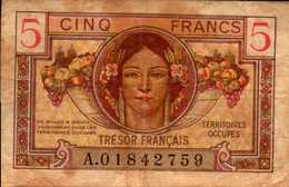 FRANCE Trèsor Français 5 FRANCS De 1947nd  Pick M6 - Treasury