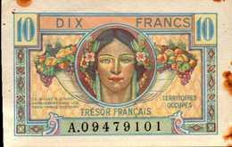 FRANCE Trèsor Français 10 FRANCS De 1947nd  Pick M7 - Treasury
