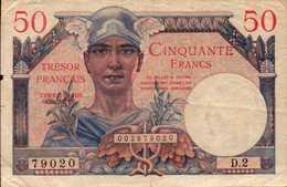 FRANCE Trèsor Français 50 FRANCS De 1947nd  Pick M8 - Treasury