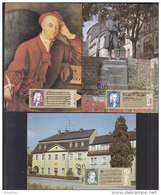DDR 2931-2933 Auf 3 Maximumkarten, 1985, Johann Sebastian Bach, Georg Friedrich Händel, Heinrich Schütz