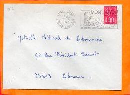 CHARENTE-MME, Montguyon, Flamme SCOTEM N° 3772, Sa Vieille Tour, Son Dolmen, Flamme à Droite - Marcophilie (Lettres)