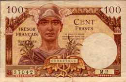 FRANCE Trèsor Français 100 FRANCS De 1947nd  Pick M9 - 1947 French Treasury
