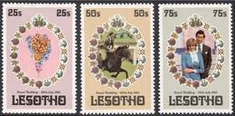 Lesotho, 3 Stamps 1981, Sc # 335-337, Mi # 344-346, MNH. - Lesotho (1966-...)