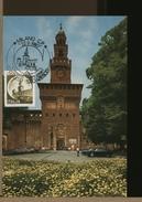 ITALIA - FDC - MAXIMUM - MILANO - CASTELLO SFORZESCO - TORRE DEL FILARETE  1980 - Cartoline Maximum