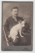 CDV Photo - Herr Und Hund - Lorenz - Iglau - Dog Chien - Anonyme Personen