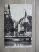 LOIRET  45   MONTARGIS    -   UN BRAS DU  LOING  SUR LE CANAL   ANIME    TTB - Montargis