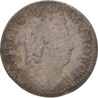 Monaco, Antoine I, Pezzetta, 1707, B+, Billon, Gadoury:MC90 - Monaco