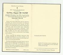 Doodsprentje  *  De Vuyst Cyrillus August   (° Wanzele 1881  / + Sint-Niklaas 1960)  X (Oudstrijder 1914-18) - Religion & Esotérisme