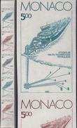 Monaco 1983 Y&T 1403. Bande De 5 Essais De Couleurs. Activités Industrielles De La Principauté. Technologie Pétrolifère