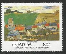 1991 Uganda Paintings Art Van Gogh   Complete Set Of 8 MNH - Uganda (1962-...)