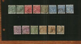 GIBRALTAR – QVIC - 1889 - Spanish Currency - 14 Stamps - USED - Gibraltar