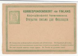 Finland Postal Stationery Korrespondenskort Russian Government Not Used Bb170125 - Finland