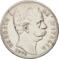 Italie, Umberto I, 5 Lire, 1879, Rome, TTB, Argent, KM:20 - 1878-1900 : Umberto I