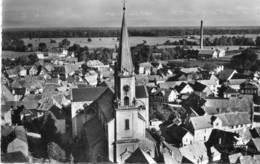 CPSM Dentelée - ERSTEIN (67) - Vue Aérienne Du Quartier De L'Eglise Dans Les Années 50 - France