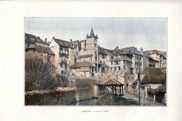 1903 - Phototypie Couleur - Argelès-Gazost (Hautes-Pyrénées) - Vue Sur Le Canal - FRANCO DE PORT - Ohne Zuordnung