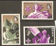 Malta 1959 SG 292-4 George Cross Mounted Mint - Malta