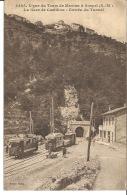 06 - LA GARE DE CASTILLON ENTREE DU TUNNEL - France