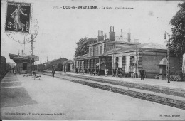 35 - DOL DE BRETAGNE   La Gare Vue Intérieure - Dol De Bretagne