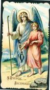 SANTINO -  S. Raffaele Arcangerlo - Santino Antico Con Orazione, Anno 1916, Come Da Scansione - Images Religieuses