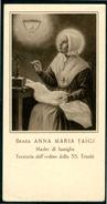SANTINO -  Beata Anna Maria Taigi - Santino Antico Con Preghiera, Come Da Scansione - Santini
