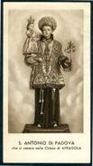 SANTINO - S.Antonio Di Padova - Santino Antico Con Preghiera, Venerato Nella Chiesa Di Afragola (NA) Come Da Scansione - Santini