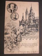 MAINZ , Katholikentag   , Schöne Karte  Um 1914 ,  Mit Marke + Stempel, Textseite Etwas Fleckig - Mainz