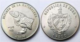 CUBA CARIBBEAN  1 PESO 1985 IGUANA FDC UNC - Cuba