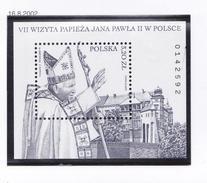 POLOGNE 2002 S.S. LE PAPE JEAN PAUL II BLOC 158 MNH - 1944-.... Republic
