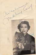 Autographe De Martine Carol