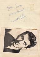Autographe De Daniel Gelin