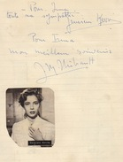 Autographe De Geneviève Kervine Et Jean Marc Thibault - Autographs