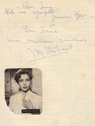 Autographe De Geneviève Kervine Et Jean Marc Thibault