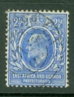 East Africa & Uganda Protectorates: 1904/07   Edward    SG21   2½a  Ultramarine & Blue  Used - Kenya, Uganda & Tanganyika