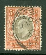 East Africa & Uganda Protectorates: 1904/07   Edward    SG24   5a    Used - Kenya, Uganda & Tanganyika
