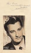 Autographe De André Dassary - Autographs