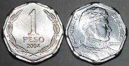 CILE CHILE 1 PESO 2004 FDC UNC - Cile