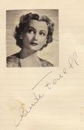 Autographe De Claude Fouell