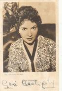 Autographe De Gina Lollobrigida