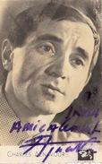 Autographe De Aznavour