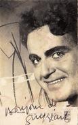 Autographe De Guy Beart