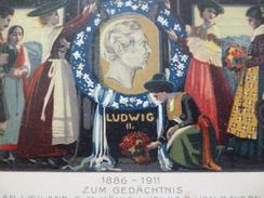 Lettre Allemagne Entier Carte Postale Illustrée Par Tanner Bayern 1911 LudwigII - Allemagne