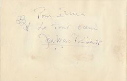 Autographe De Roger Pierre Et Jean Marc Thibault - Autographes