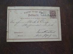 Lettre Allemagne Entier 1873 Deutsche Reich Cachet à Voir 5/12/1873 - Lettres & Documents