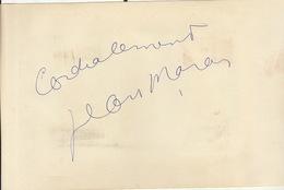 Autographe De Jean Marais