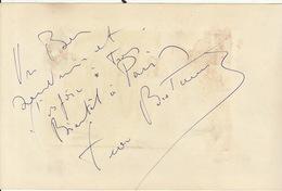 Autographe De Jean Bretonniere