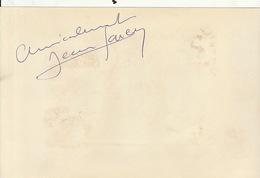 Autographe De Jean Marco