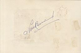 Autographe De Line Renaud