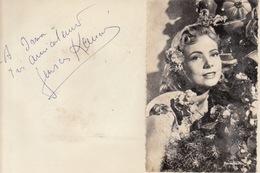 Autographe De Geneviève Kervine